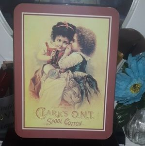 VINTAGE TIN) CLARK'S O.N.T SPOOL COTTON